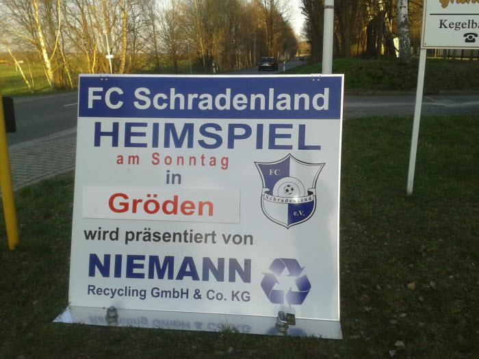 FC Schradenland Aufsteller