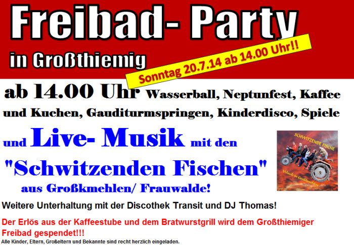 Freibadparty