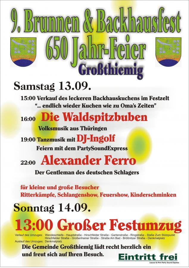 9. Brunnen- und Backhausfest