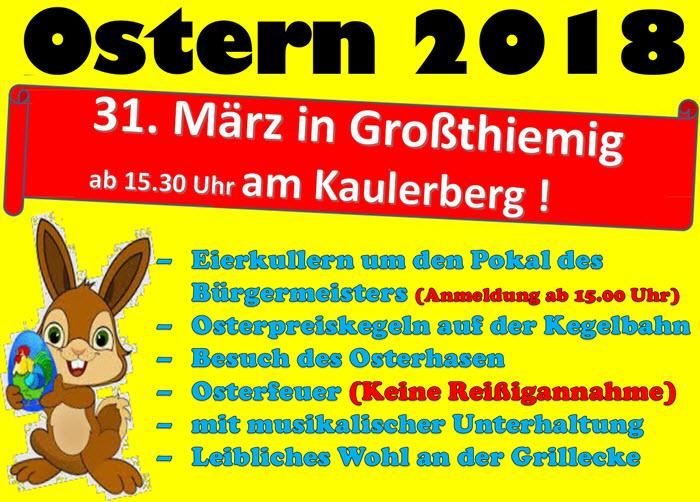 2018 ostern